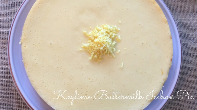 Keylime Buttermilk Icebox Pie